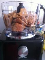 Shiny new machine. Random biscuity stuff. So pretty